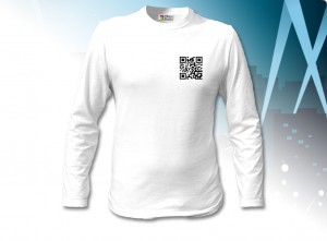 QR-coded tee-shirt