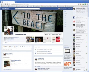 How Facebook Timeline will look when it goes live