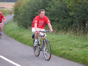 David Cameron cycling